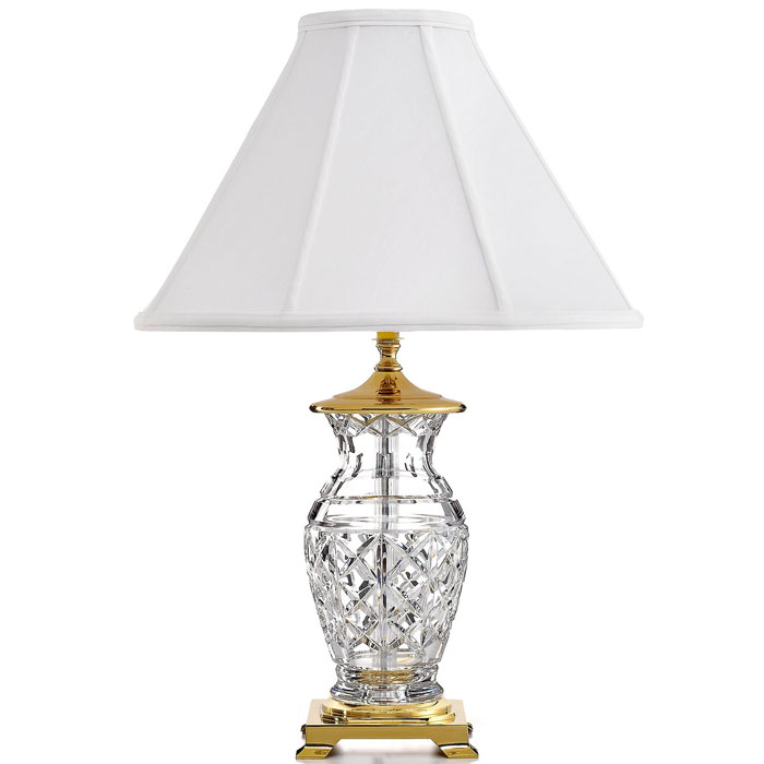 Waterford kingsley table waterford waterford crystal swarovski waterford kingsley table lamp with white empire shantung shade aloadofball Image collections